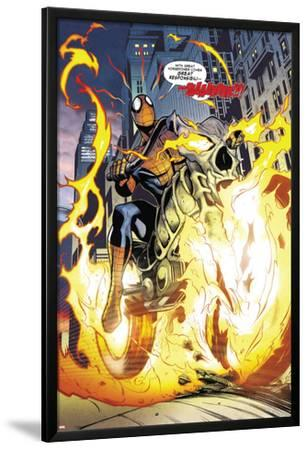 Amazing Spider-Man/Ghost Rider: Motoerstorm No.1: Spider-Man Riding a Flaming Motorcycle