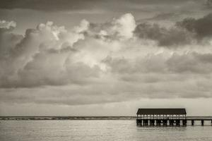 Hanalei Bay, Hanalei Pier, Hawaii, Kauai, clouds by Lee Klopfer