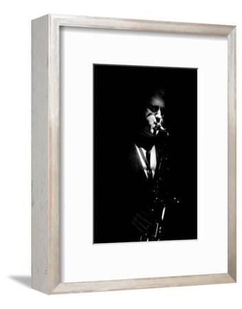Lee Konitz, Ronnie Scott's, Soho, London, November, 1986-Brian O'Connor-Framed Photographic Print