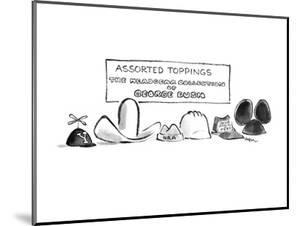 Assorted Toppings The Headgear collection of George Bush - New Yorker Cartoon by Lee Lorenz