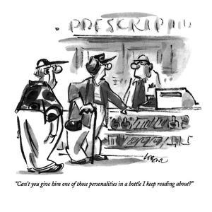 """""""Can't you give him one of those personalities in a bottle I keep reading ?"""" - New Yorker Cartoon by Lee Lorenz"""