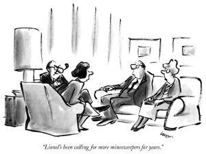 """""""Lionel's been calling for more minesweepers for years."""" - New Yorker Cartoon by Lee Lorenz"""