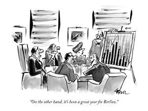 """""""On the other hand, it's been a great year for Berlioz."""" - New Yorker Cartoon by Lee Lorenz"""