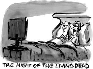 """""""The night of the living dead.""""  - New Yorker Cartoon by Lee Lorenz"""