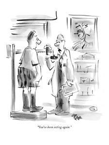 """You've been eating again."" - New Yorker Cartoon by Lee Lorenz"