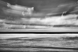 Beach in Motion BW by Lee Peterson
