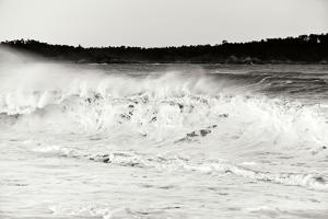 Carmel Waves I BW by Lee Peterson