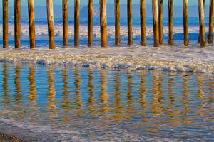 Pier Reflections I by Lee Peterson