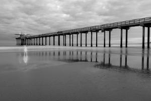Scripps Pier BW II by Lee Peterson