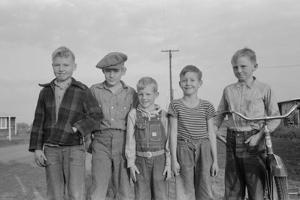 Children of Mineral King Cooperative Farm Visalia, California, 1940 by Lee Russell