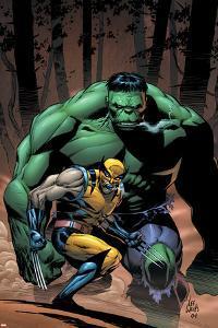 Incredible Hulk No.80 Cover: Wolverine and Hulk by Lee Weeks