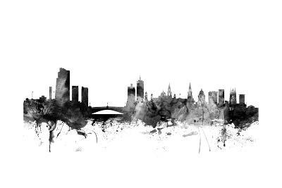 Leeds England Skyline-Michael Tompsett-Art Print