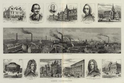 Leeds Illustrated--Giclee Print