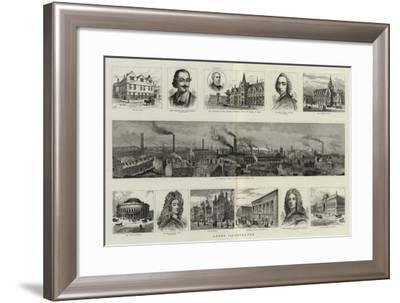Leeds Illustrated--Framed Giclee Print