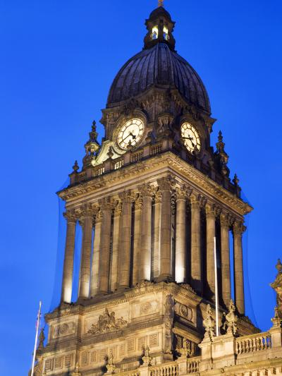 Leeds Town Hall at Dusk, Leeds, West Yorkshire, Yorkshire, England, United Kingdom, Europe-Mark Sunderland-Photographic Print