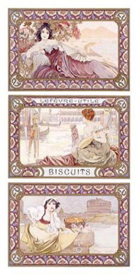 Lefevre-Utile Biscuits-Alphonse Mucha-Giclee Print