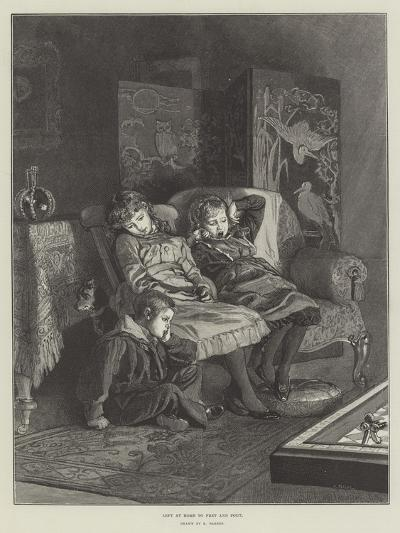 Left at Home to Fret and Pout-Robert Barnes-Giclee Print