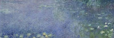Left Centre Piece of the Large Water Lily Painting in the Mus?e De L'Orangerie-Claude Monet-Giclee Print