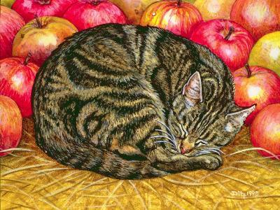 Left-Hand Apple-Cat, 1995-Ditz-Giclee Print