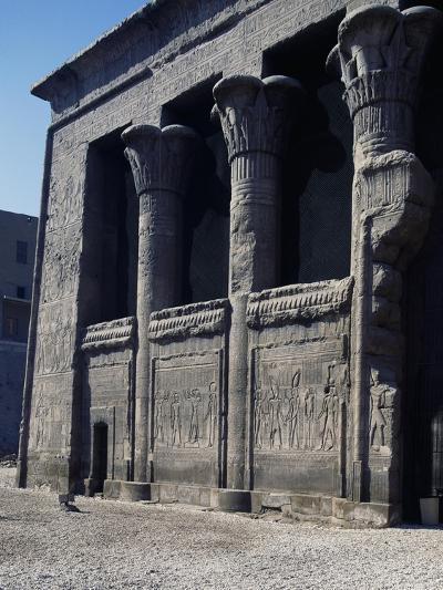 Left Side of Facade of Temple of Khnum, Esna--Giclee Print