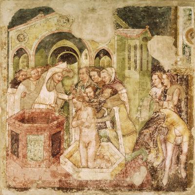Legend of St Ursula: Baptism of Prince of England, by Tommaso Da Modena--Giclee Print