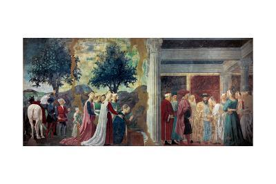Legend of the Cross: Solomon & Sheba-Piero della Francesca-Art Print
