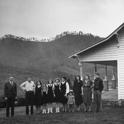 Legendary Country Western Music Carter Family: A.P. and Ezra with Family-Eric Schaal-Premium Photographic Print