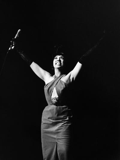 Legendary Entertainer Josephine Baker Addresses Her Adoring Fans-G. Marshall Wilson-Photographic Print