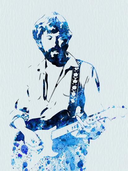 Legendary Eric Clapton Watercolor-Olivia Morgan-Art Print