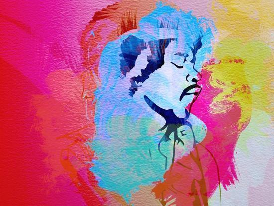 Legendary Hendrix Watercolor-Olivia Morgan-Art Print