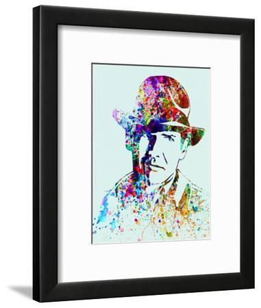 Legendary Indiana Jones Watercolor-Olivia Morgan-Framed Art Print