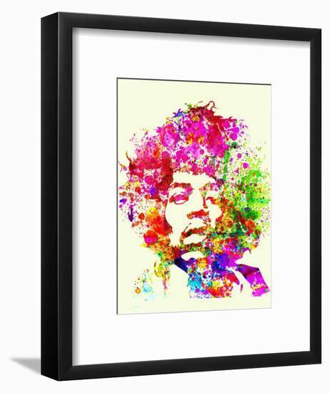 Legendary Jimi Hendrix Watercolor I-Olivia Morgan-Framed Art Print