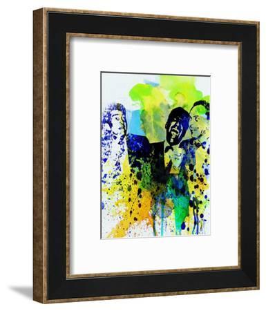 Legendary Rat Pack Watercolor-Olivia Morgan-Framed Art Print
