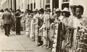 Lei Vendors, Honolulu, Hawaii