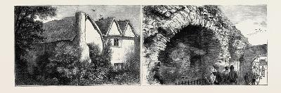 Leicester: Latimer's House (Left), the Old Jewry Wall (Right)--Giclee Print