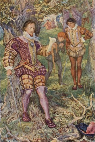 Leicester Snatched the Letter from His Hand-Henry Justice Ford-Giclee Print