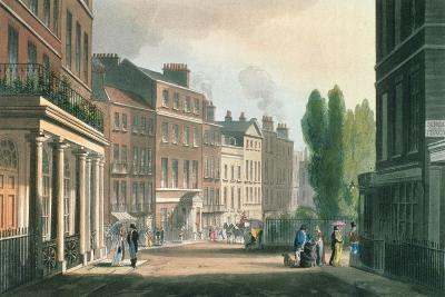 Leicester Square, Ackermann's Repository of Arts, Literature, Manufacture, Fashions and Politics--Giclee Print