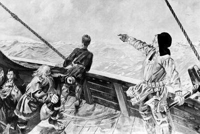 Leif Ericson Discovering America-Per Krohg-Giclee Print
