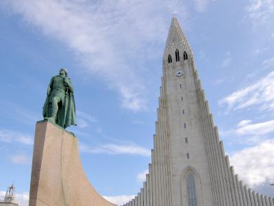 Leif Eriksson, Hallgrimskirkja, Reykjavik, Iceland-Lisa S^ Engelbrecht-Photographic Print
