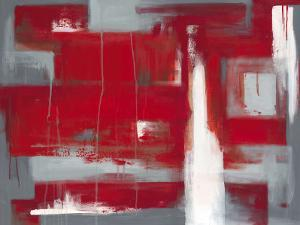 Red Abstract by Leigh Banks