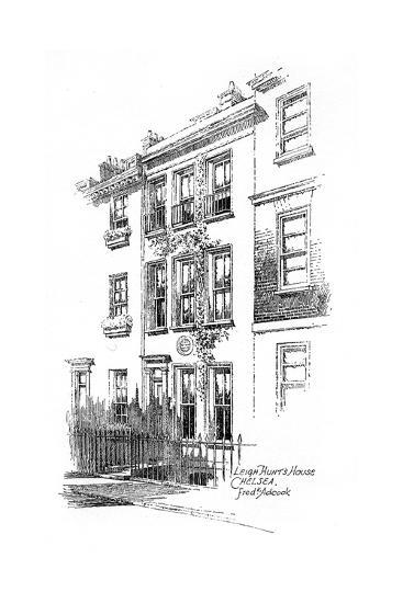 Leigh Hunt's House, Chelsea, London, 1912-Frederick Adcock-Giclee Print