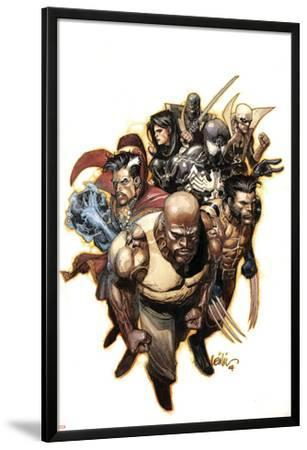 New Avengers No.37 Cover: Luke Cage, Wolverine, Spider-Man, Dr. Strange, Iron Fist, Ronin and Echo by Leinil Francis Yu