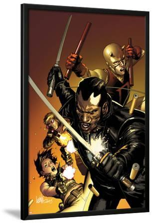 Ultimate Avengers 3 No.1 Cover: Blade, Black Widow, Daredevil, and Hawkeye Posing with Weaponry by Leinil Francis Yu