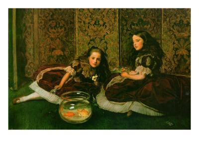 Leisure Hours-John Everett Millais-Art Print