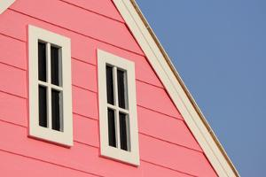 Gable Roof with White Windows on Wooden House by leisuretime70