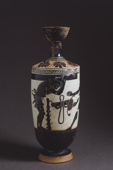 Lekythos Showing Hercules and Atles, Detail Showing Hercules--Giclee Print