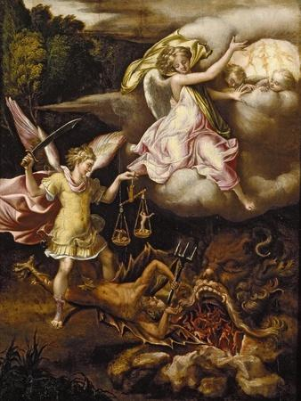 St Michael Subduing Satan and Weighing the Souls of the Dead, C. 1540 - 1549