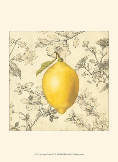 Lemon and Botanicals-Megan Meagher-Art Print