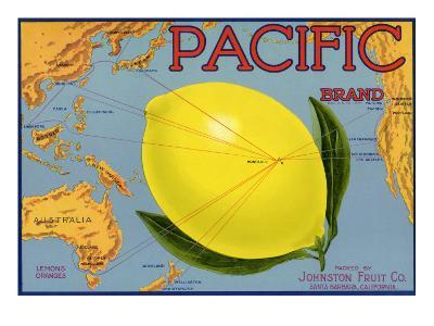 Lemon Fruit Label, 1940--Giclee Print