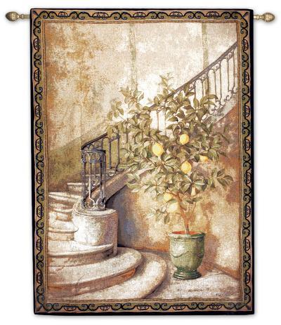 Lemon Stairwell--Wall Tapestry